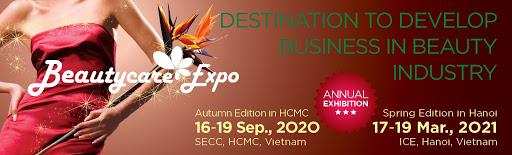 BEAUTYCARE EXPO 2020 - Triển lãm Quốc tế về sản phẩm, công nghệ và dịch vụ làm đẹp