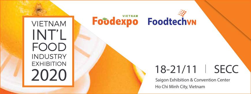 FOODEXPO & FOODTECH VIETNAM 2020 - Triển lãm Quốc tế Công nghiệp thực phẩm Việt Nam